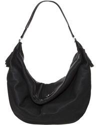 The Row Sling Plaid Bag - Black