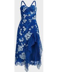 Bronx and Banco Tiffany Ruffle Dress - Blue