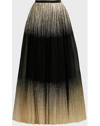 Jenny Packham Dia & Zamora Pleated Maxi Skirt - Black