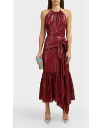 Roland Mouret Miranda Silk-blend Lame Dress - Red