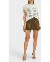 R13 Leopard-print High-rise Mini Skirt - Green