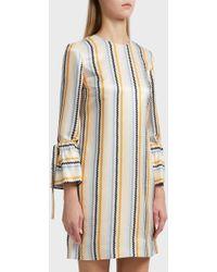Victoria, Victoria Beckham - Striped Shift Dress, Uk6 - Lyst
