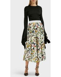 Mary Katrantzou Alice Insect-print High-waist Skirt - Multicolor