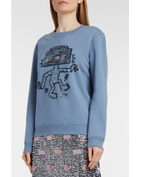 COACH - X Keith Haring Sequin-embellished Cotton-blend Jersey Sweatshirt - Lyst