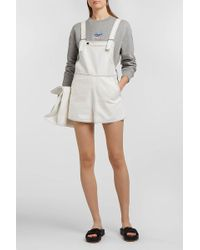 Courreges - Denim Playsuit, Size Fr36, Women, White - Lyst
