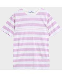 Stone Island - College Stripe T-shirt - Lyst