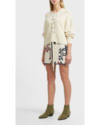 Isabel Marant Lickly Origami Quilted Cotton Skirt - Natural