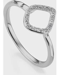 Monica Vinader Riva Mini Kite Diamond Stacking Ring - Metallic