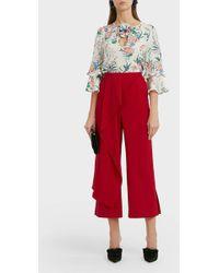 Andrew Gn Floral-print Silk Blouse - Multicolour