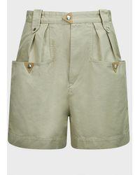 Étoile Isabel Marant Palino High-rise Cotton Shorts - Green