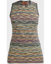 Missoni Striped Sleeveless Wool Top - Multicolor