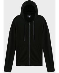James Perse Vintage Fleece Zip-up Jacket - Black
