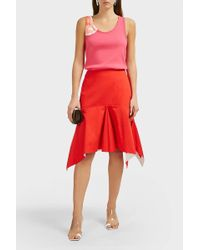 CALVIN KLEIN 205W39NYC Flared Cotton Midi Skirt