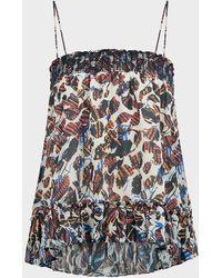 10 Crosby Derek Lam Filomena Speckled Cami Top-skirt - Multicolor