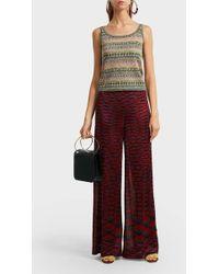 Missoni Striped Crochet-knit Tank - Red