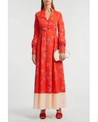Borgo De Nor Valentine Printed Cotton Maxi Dress - Red