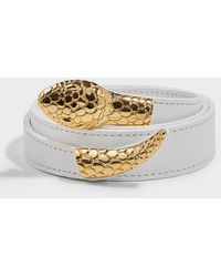 Altuzarra Snake-buckle Leather Belt - Multicolor