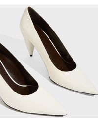 The Row - Cone Leather Pumps - Lyst