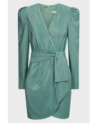 Jonathan Simkhai Metallic Wrap Mini Dress - Green