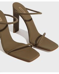 Yeezy - Rubberized Leather Sandals - Lyst