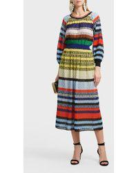 Missoni Striped Crochet-knit Sweater - Multicolor