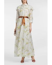 Merchant Archive - Floral-print Cotton And Silk-blend Dress, Uk10 - Lyst