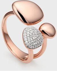 Monica Vinader - Nura Pebble Cluster Diamond Ring - Lyst
