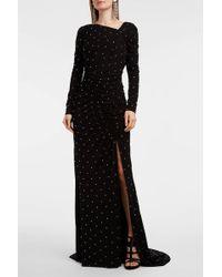 Altuzarra Gallen Beaded Jersey Gown - Black