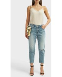 Anine Bing - Lace-trimmed Silk Camisole - Lyst