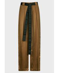 Amanda Wakeley Two-tone Silk-satin Pants - Multicolor