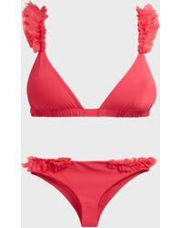 Moré Noir Silky Wings Bikini Set - Red