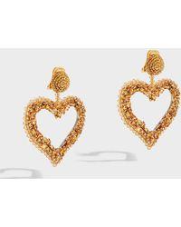 Oscar de la Renta - Bead And Crystal Earrings, Size Os, Women, Y Gold - Lyst