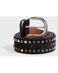 Isabel Marant Devis Studded Leather Belt - Black