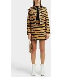 Proenza Schouler Tiger-jacquard Snap-front Cropped Jacket - Multicolor
