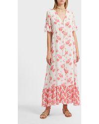 Athena Procopiou Sundown Breeze Silk Maxi Dress - Pink