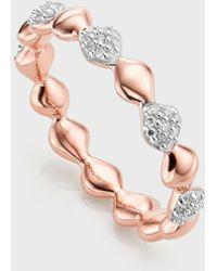 Monica Vinader Nura 18k Rose Gold Teardrop Mixed Eternity Diamond Ring - Pink