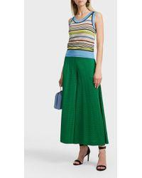 Missoni Striped Linen-blend Top - Green
