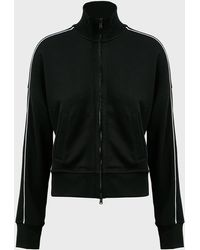 ATM Contrast-piping Zip-up Jacket - Black