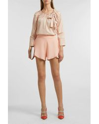 Rebecca Taylor - Bow Detail Top, Size Xs, Women, Pink - Lyst