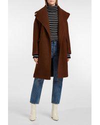AF AGGER Wool-bouclé Coat - Brown