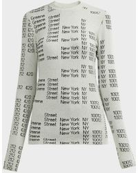 Proenza Schouler Knit Graphic-print Jacquard Sweater - Gray
