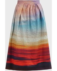 Mary Katrantzou Bowles Striped Midi Skirt - Multicolour