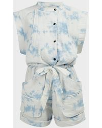 Étoile Isabel Marant Blithe Tie-dye Jumpsuit - Blue