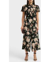 Erdem - Ellamay Floral-print Silk Jumpsuit - Lyst
