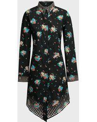 Paco Rabanne Floral-print Cotton Shirtdress - Multicolor