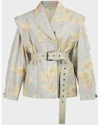 Étoile Isabel Marant Raine Printed Cotton-blend Jacket - Multicolour