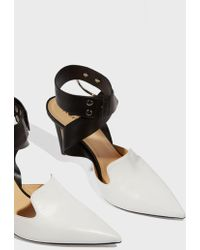 Monse - Two-tone Leather Court Shoes - Lyst