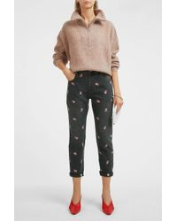 Étoile Isabel Marant Cliffy Embroidered Jean - Multicolour