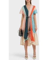 Peter Pilotto Striped Cotton Dress - Multicolour