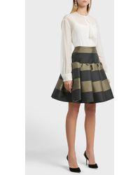 Rochas Striped Mini Skirt - Multicolour